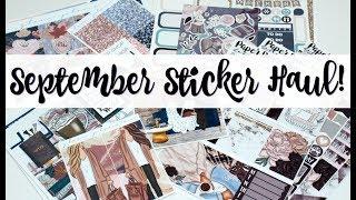 September Sticker Haul!