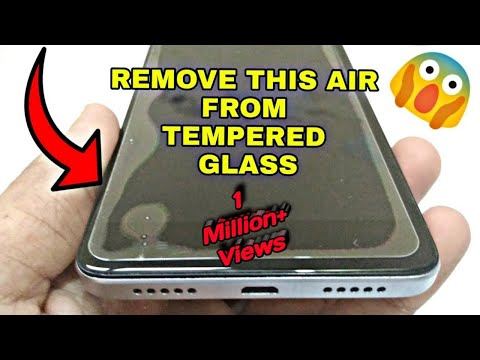 How to Remove Bubbles or Air From Tempered Glass # Removing Halo Effect from Screen protector [SG]