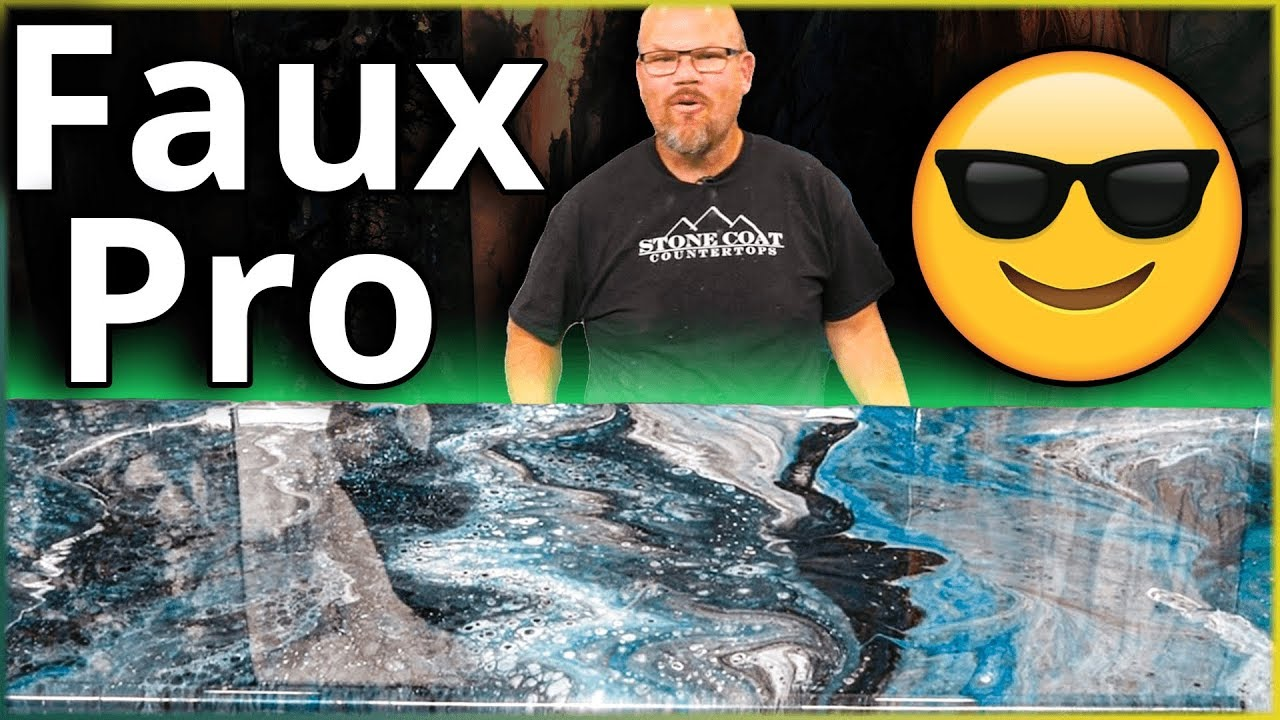 How to Make a Faux Blue Granite Kitchen for $250 | Stone Coat Countertops