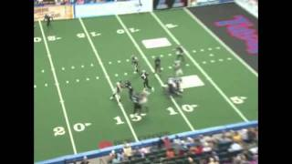 Chris Merkle Defensive Lineman for AFL ( Arena Football League) big hit vs Tulsa Talons