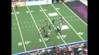 Chris Merkle Defensive Lineman for AFL ( Arena Football League) big hit vs Tulsa Talons
