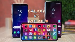 Samsung Galaxy S9 and S9+ vs iPhone X