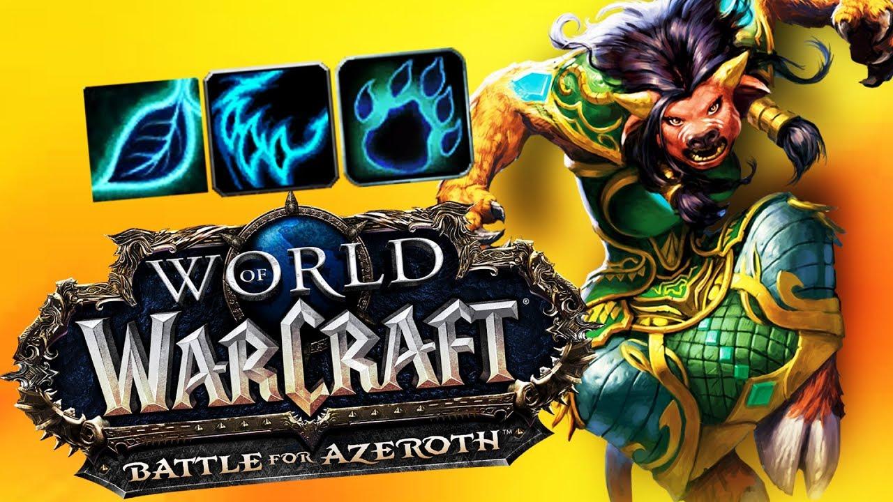BFA DRUID First Impression - World of Warcraft: Battle For Azeroth (BETA)