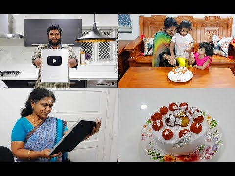 celebrating-silver-play-button-with-gulab-jamun-cake-recipe-#youtubecreatorawards
