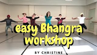 TEEJE WEEK | Jordan Sandhu | Easy Bhangra Workshop by Christine