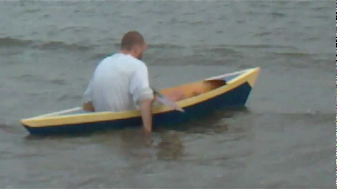 Sinking My Plywood Canoe Pirogue Youtube