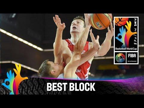 Ukraine v Turkey - Best Block - 2014 FIBA Basketball World Cup