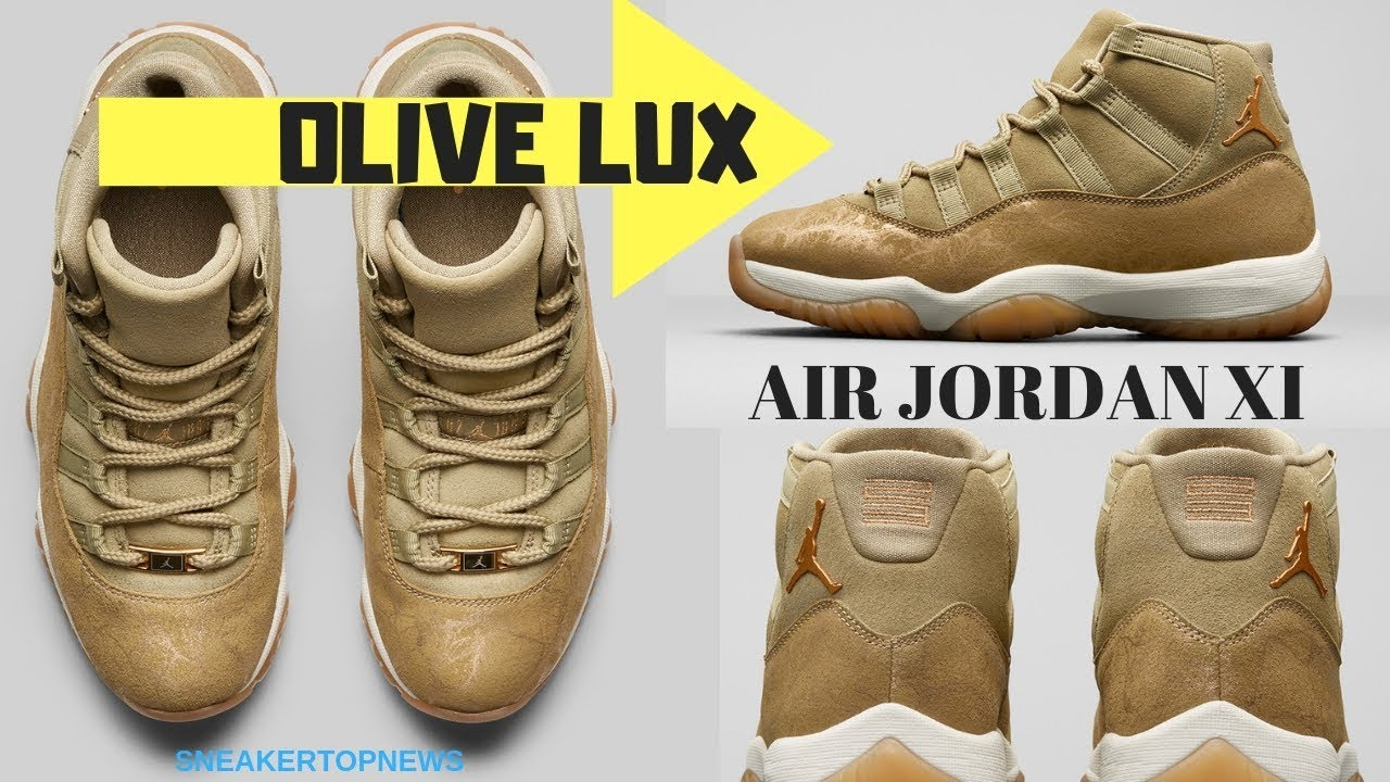 """5dfd71f10aa Air Jordan 11 """"Olive Lux"""" Headlines Women's Holiday Collection - YouTube"""