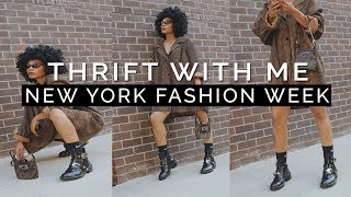 THRIFT WITH ME - NYFW Outfits + FALL TRENDS!