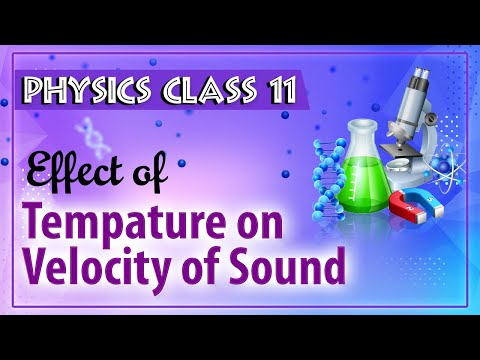 Effect of pressure on tempature on velocity of sound
