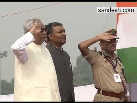 Bihar CM Nitish Kumar Hoists National Flag in Patna