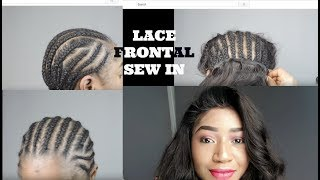 SEW IN, NO GLUE, NO TAPE OR LEAVE OUT LACE FRONTAL  || IWISH HAIR