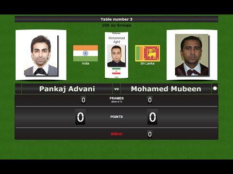 Groups: Pankaj Advani vs Mohamed Mansoor Mubeen