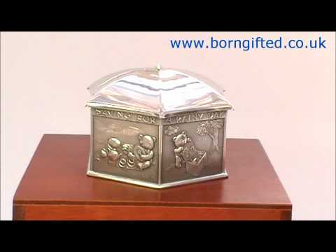 Pewter 'Saving for a Rainy Day' Money Box by Royal Selangor