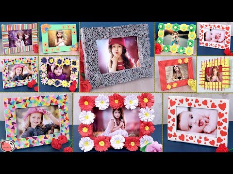 10 Creative DIY Photo Frame Idea !!! DIY School Projects