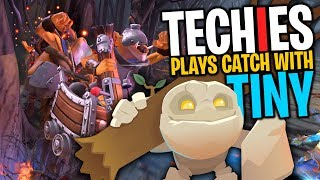 Techies Plays Catch With Tiny - DotA 2 Funny Moments