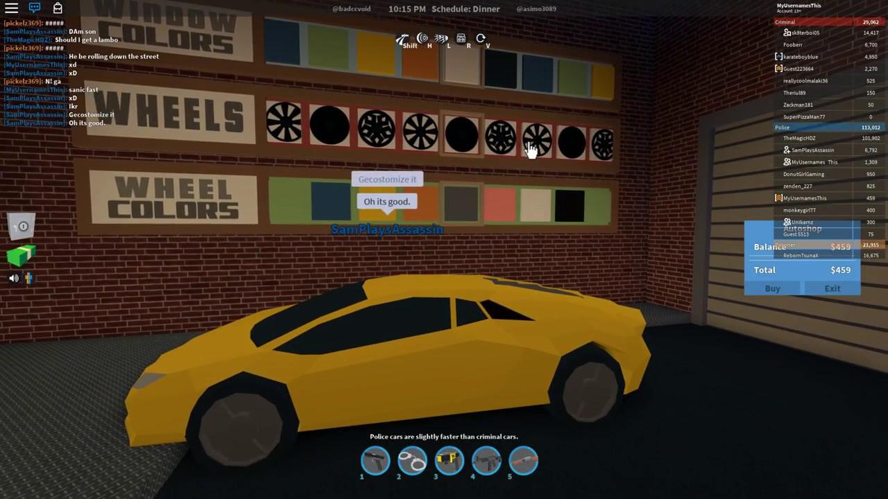 Roblox Jailbreak Testing Out The Lamborghini Youtube