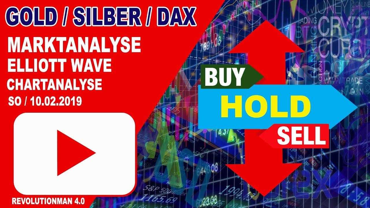 Dax Dow Gold WTI Elliott Wave - Technische Marktanalyse 10.02.2019