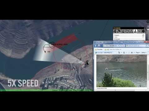 SpotterRF Perimeter Surveillance Radar System Tracking Marine on Water