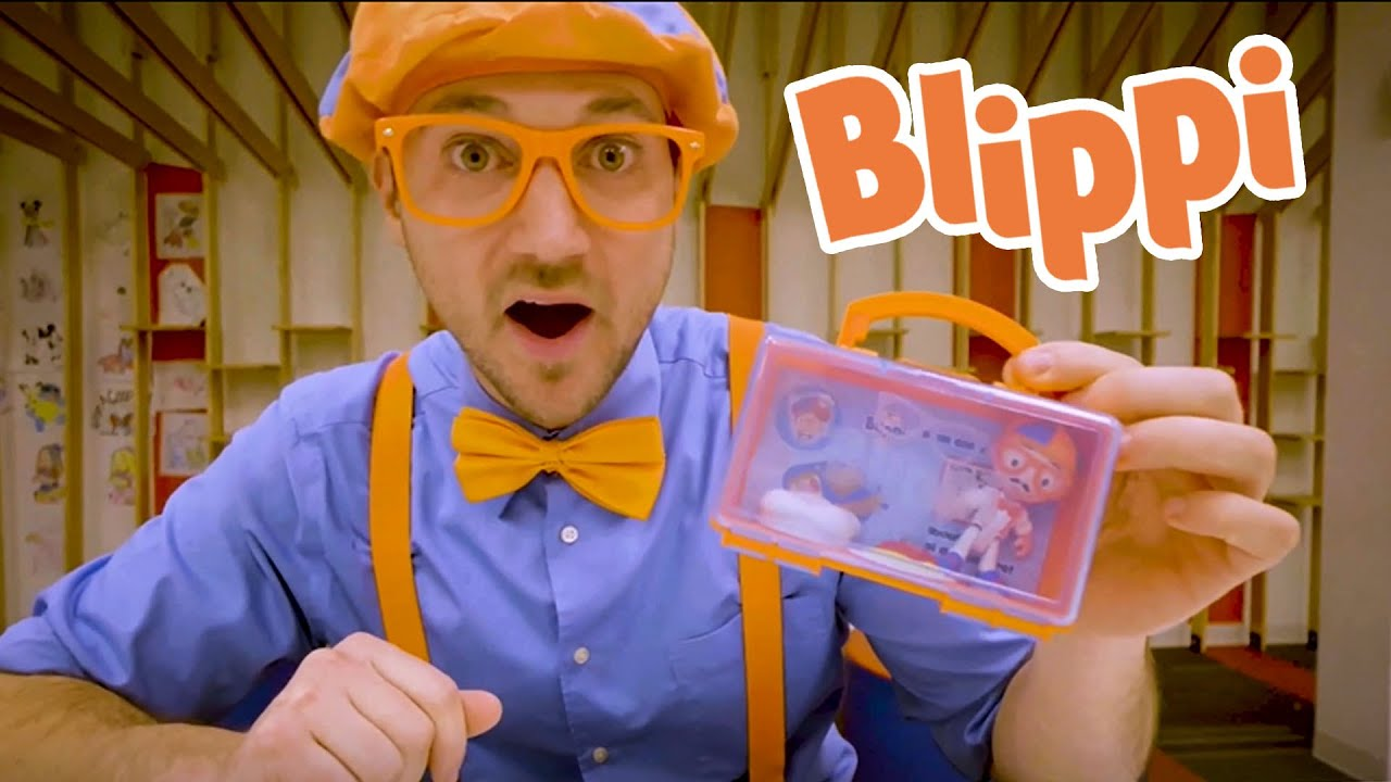 Blippi's Indoor Playground Exercise And Lunch Time For Kids | Learning With Bippi