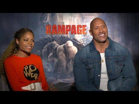 'Rampage': Dwayne Johnson and Naomie Harris (FULL INTERVIEW)