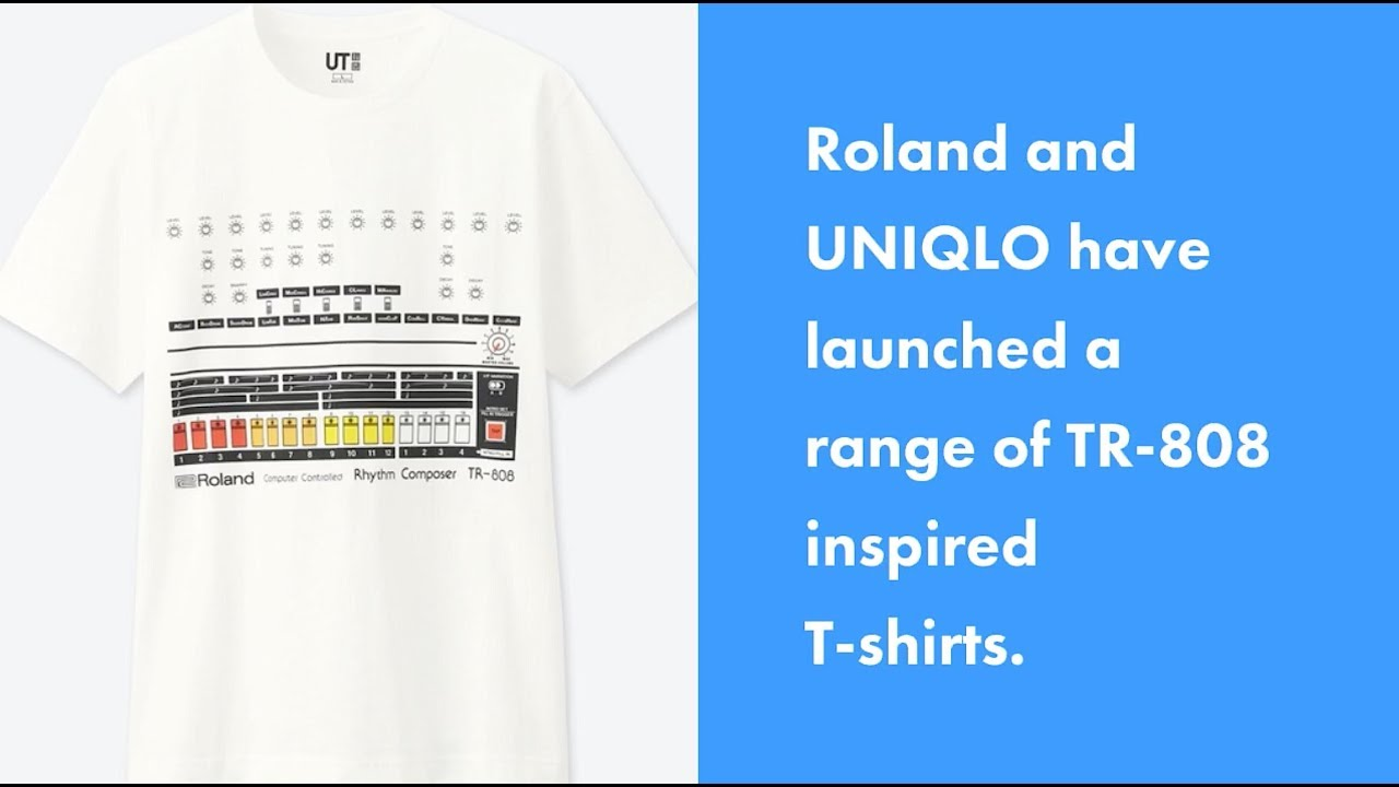 Roland & UNIQLO Team Up For TR-808 Drum Machine T shirts