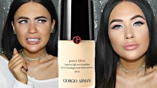 NEW Giorgio Armani Power Fabric Foundation First Impression + Demo