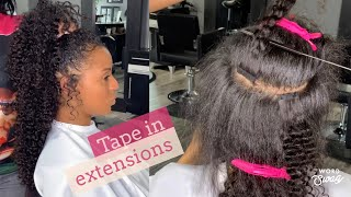 UNDETECTABLE TAPE IN EXTENSIONS
