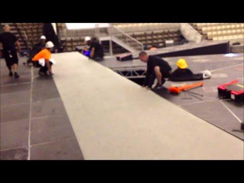 Marley Type Vinyl Stage Floor Concert Performance Flooring