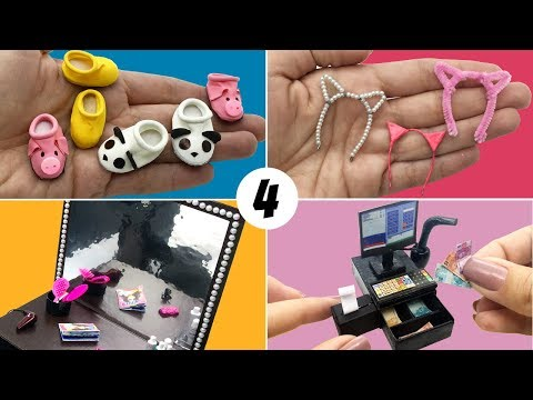 4 Easy Things to Make for Barbie Doll - DIY Miniature
