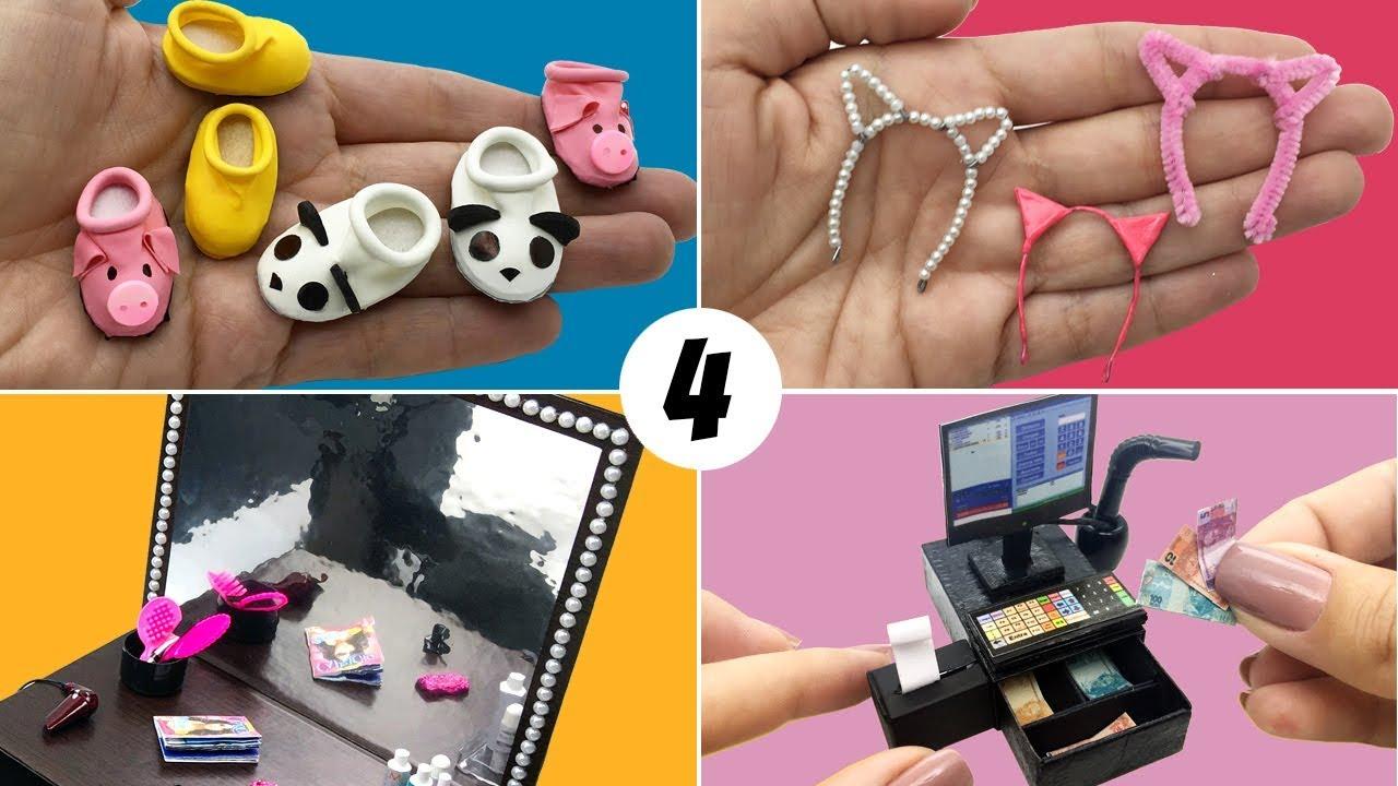4 Coisas Faceis De Fazer Para Boneca Barbie Diy Miniatura Youtube