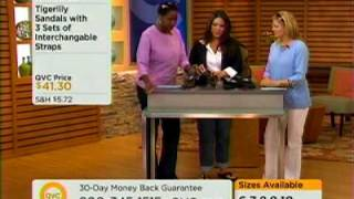 tigerlily interchangeable sandals on qvc