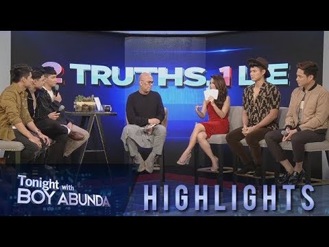 TWBA: BoybandPH and Elisse Joson take on TWBA's 2 Truths, 1 Lie