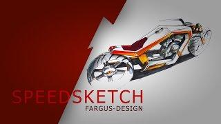 Wie zeichnet man ein Motorrad? Bikesketch. How to draw a motorcycle?