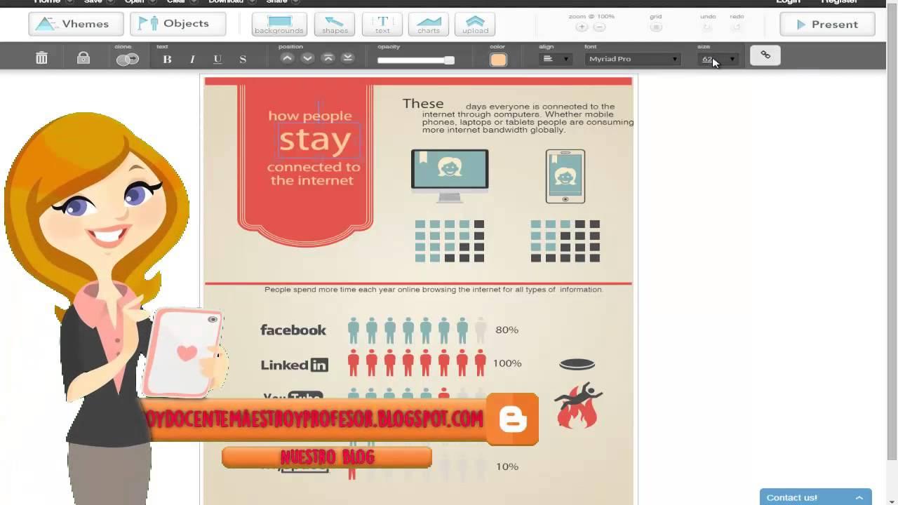 Página Online Y Gratuita Para Hacer Infografias Curso Tics