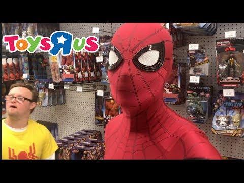 Spider-Man Visits Toys