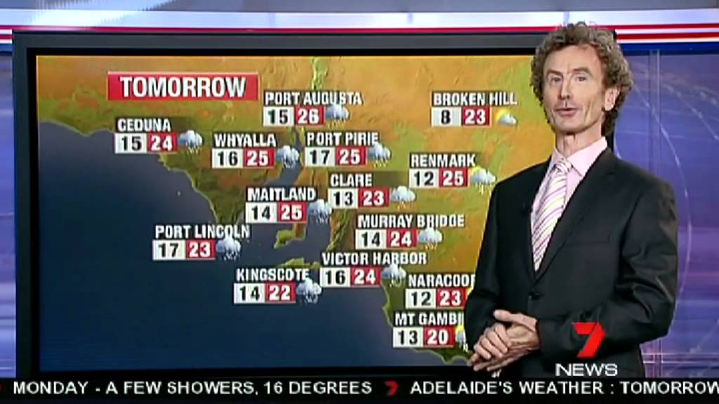 tim noonan weather report channel 7 news adelaide