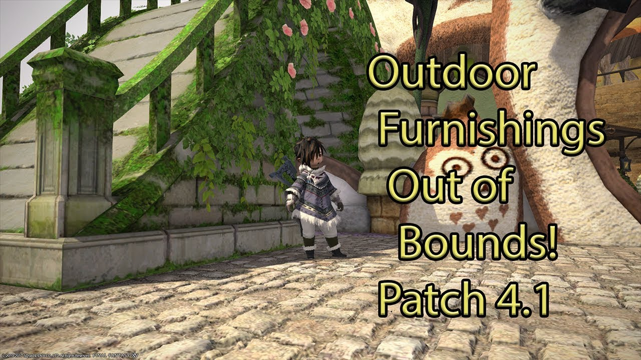 FFXIV Housing Hack Outdoor Out Of Bounds Placement