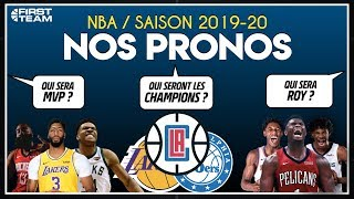 NOS PRONOS NBA SAISON 2019/20 (Champion, MVP, etc) avec PARIONS SPORTS EN LIGNE