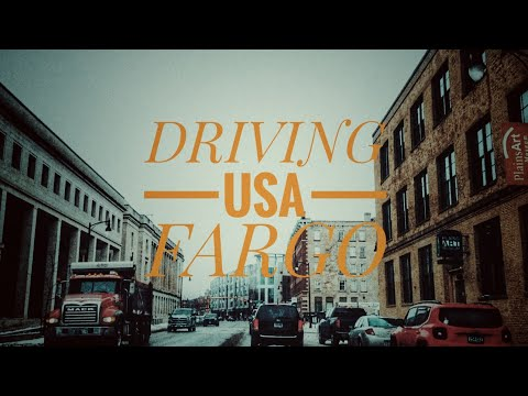 Driving Downtown - Fargo, North Dakota, USA