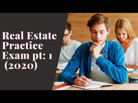Real Estate Practice Exam Questions 1-50 (2020)