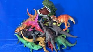 Jurassic Dinosaurs Box of Toys for Kids to Learn Colors