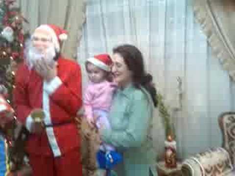 george jana jawa with santa clause in alSaraya