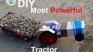 how to make RC paper tractor P1
