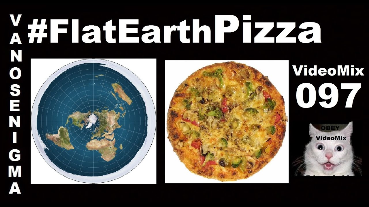 Image result for pizza flat earth