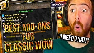 Asmongold Reacts To The Best Classic WoW Add-Ons To Have While Leveling - Hirumaredx