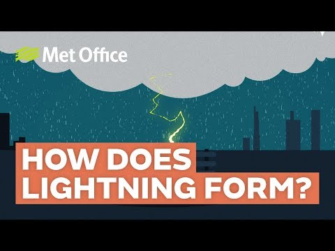 How does lightning form?