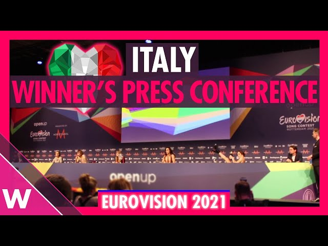 Måneskin Eurovision 2021 Winner's Press Conference