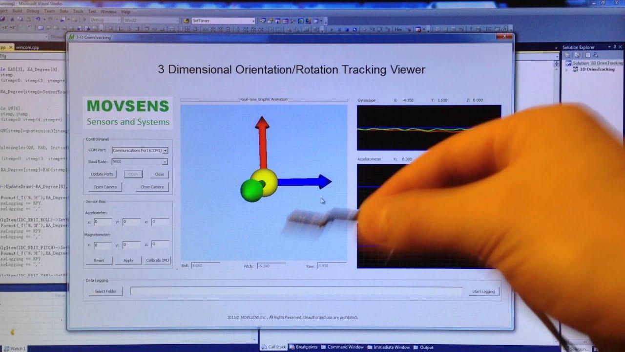 3D Orientation-Rotation Tracking using MPU9250
