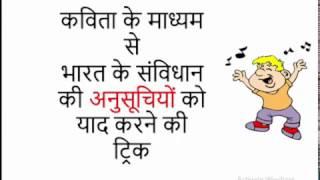 Gk Tricks Hindi   भारत के संविधान की अनुसूचियां/Schedules   SSC/MPPSC/UPSC/Railway Exam thumbnail